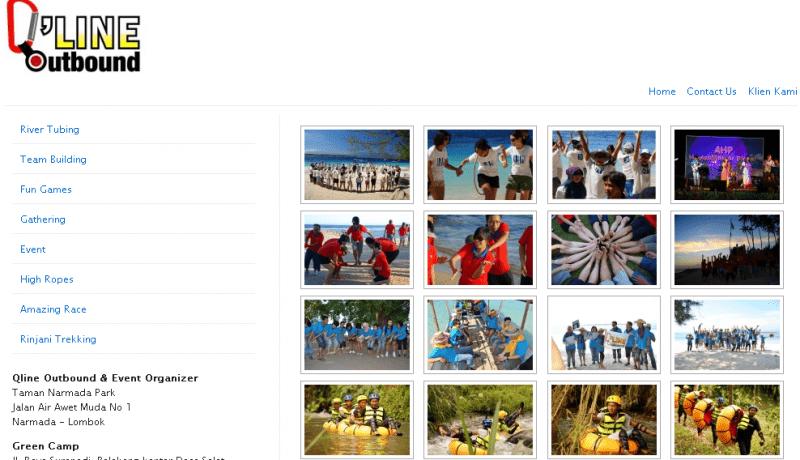 jasa pembuatan website lombok outbound