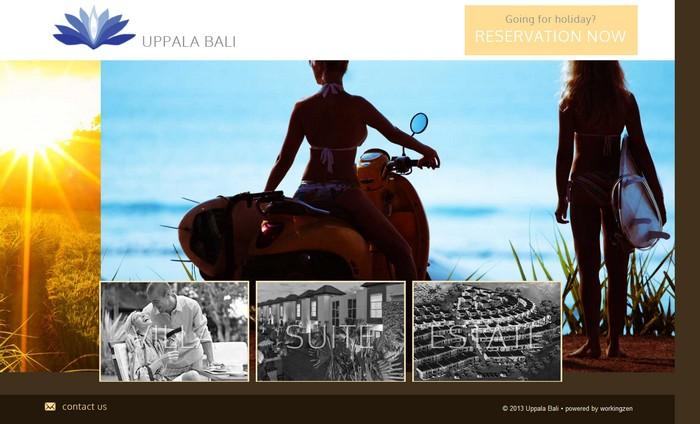 jasa pembuatan website villa uppala bali