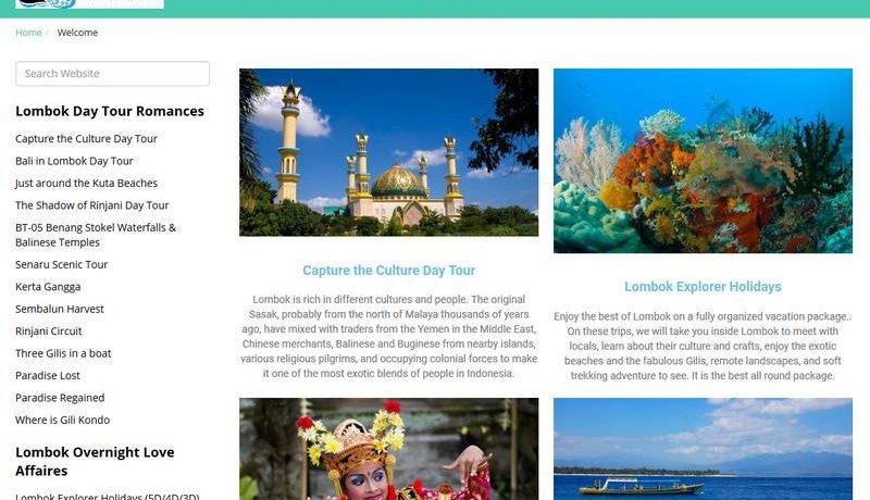 Desain Website Travel Hello Lombok Holidays