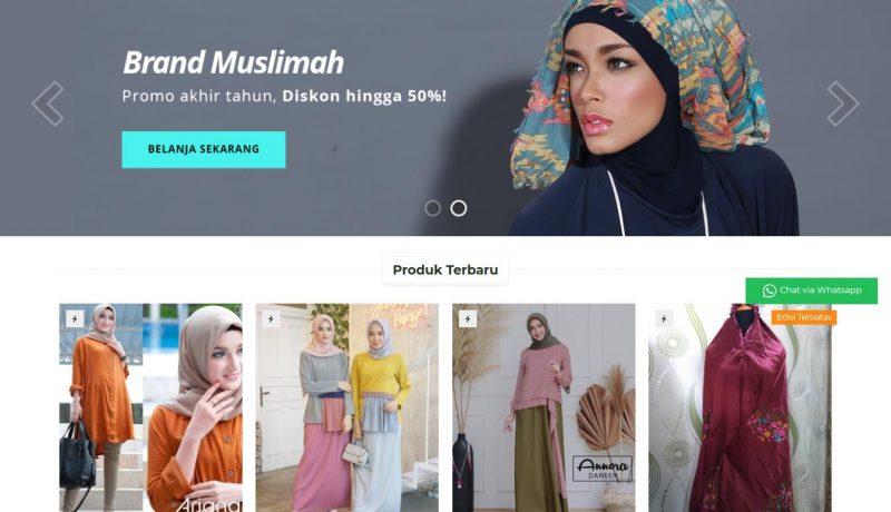 Jasa Pembuatan Web Toko Online Kamelia Moslem Fashion