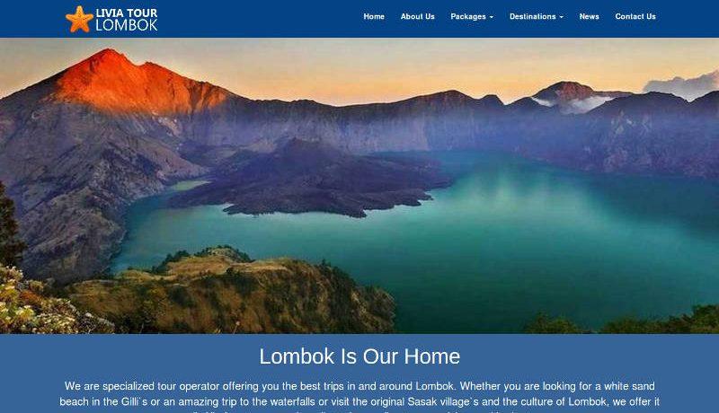 Desain Website Livia Lombok Tour