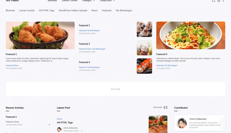Jasa Pembuatan Tema WordPress WP Fletro