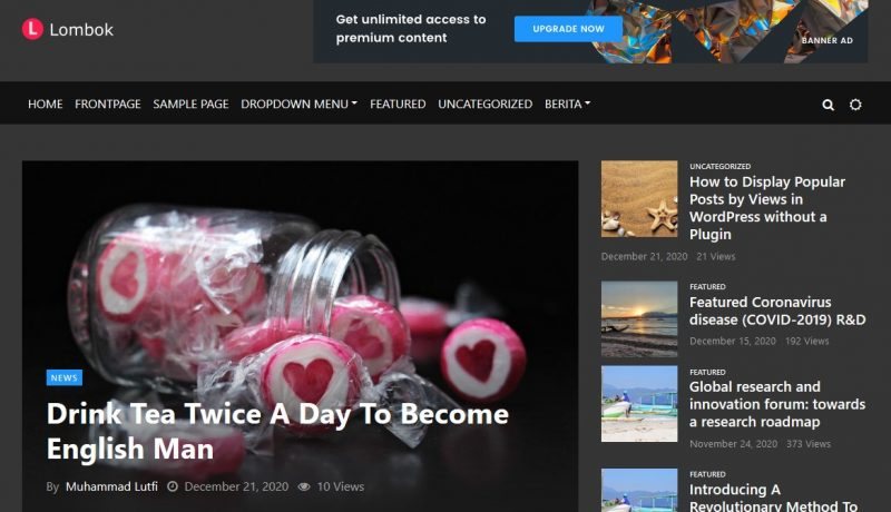 Rinjani News - Tema WordPress Website Berita dan Blog