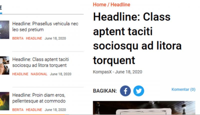 KompasX - tema WordPress cocok untuk website news atau magazine.
