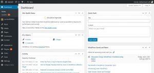 Seri Belajar WordPress - Pengenalan dan Instalasi WordPress - Dashboard UI