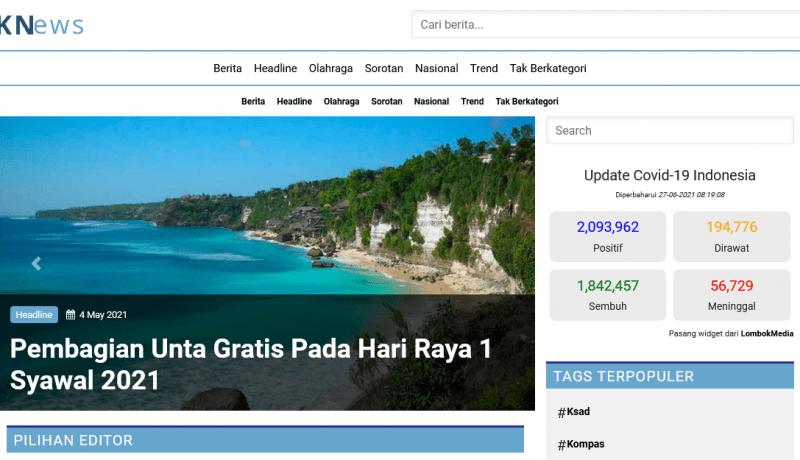 Tema WordPress Clone Website Berita KNews