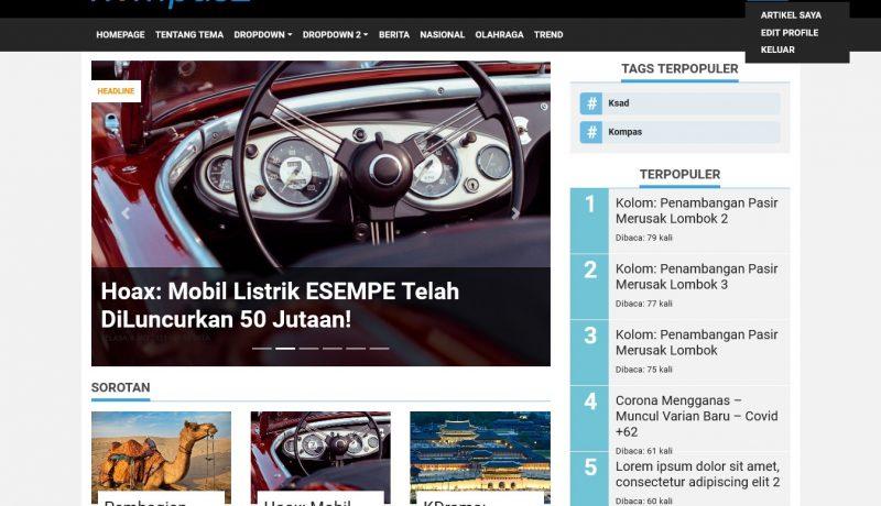 KompasZ - Tema WordPress Untuk Website Berita - Homepage