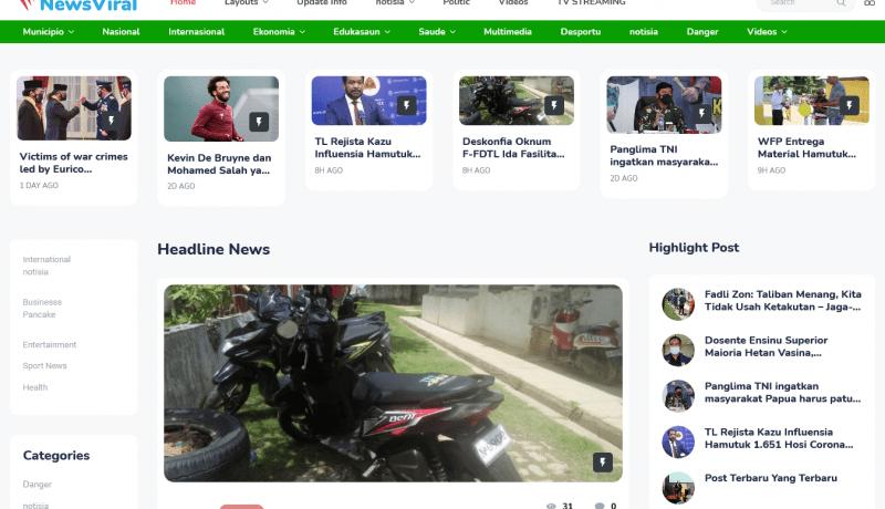 Jasa Membuat Tema WordPress dari Template HTML News Viral