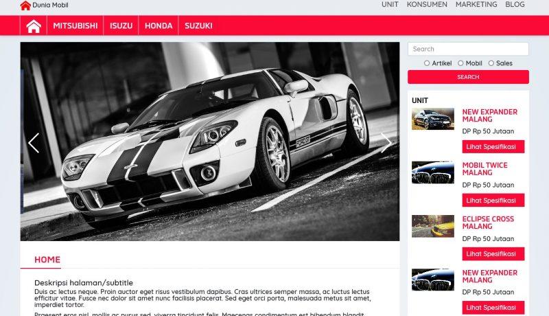 jasa pembuatan toko online - dealer mobil home
