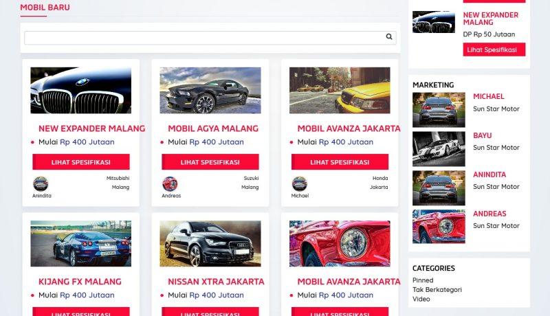 jasa pembuatan toko online - dealer mobil produk