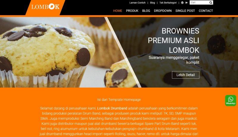 jasa pembuatan toko online - tema katalog home orange