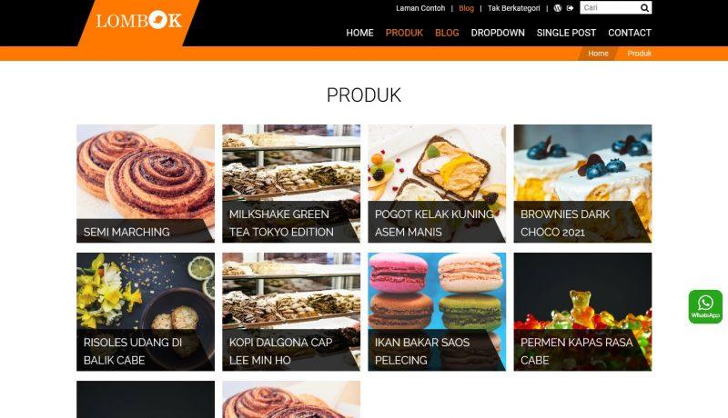 jasa pembuatan toko online - tema katalog produk